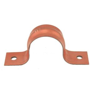 """2"""" CTS Pipe Strap, Two-Hole, Copper Clad, Carton of 100"""