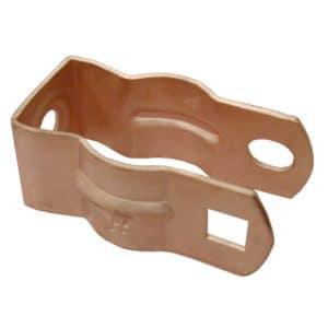 "1/2"" - 3/8"" Rigid (#0) Conduit Hanger, Copper Plated, Carton of 100"