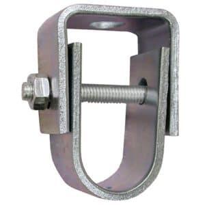 "1"" Zinc Plated Clevis Hanger for 3/8"" Rod, Standard - 401# Steel"