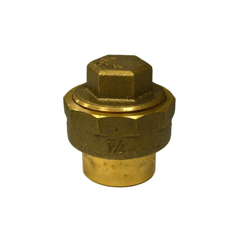 """1-1/4"""" Cast DWV Solder Fitting Cleanout with Plug"""