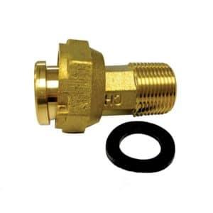 "3/4"" Water Meter Coupling Complete with Gasket, 1"" NPSM, 2-1/2"" Length, 3/4"" NPT"