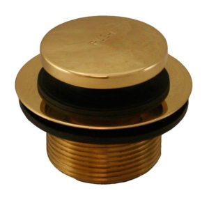 "Polished Brass 1-1/2"" Toe Touch Tub Drain"