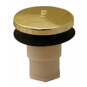 """Polished Brass PVD 2/8"""" Toe Touch Tub Drain Replacement"""