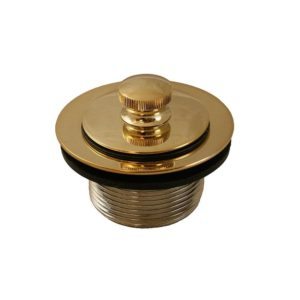 """Polished Brass PVD 1-1/2"""" Friction Lift Tub Drain"""
