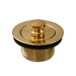"""Polished Brass PVD 1-1/2"""" Lift and Turn Tub Drain"""