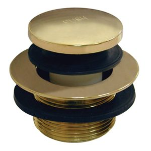 """Polished Brass PVD 1-1/2"""" Toe Touch Tub Drain"""