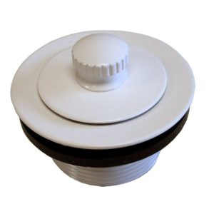 Polar White Friction Lift Tub Drain