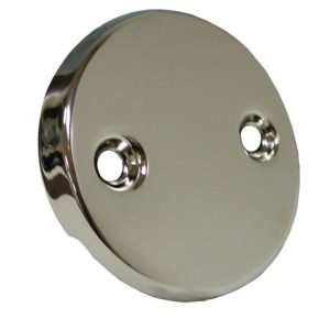 Polished Nickel Two-Hole Waste and Overflow Faceplate
