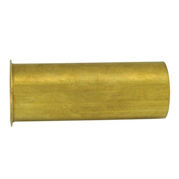 "1-1/2"" x 12"" Rough Brass Flanged Tailpiece 17 Gauge"