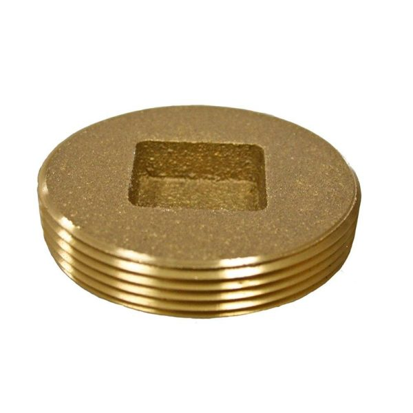 "2"" Countersunk southern Code Brass Plug 2-3/8"" OD"