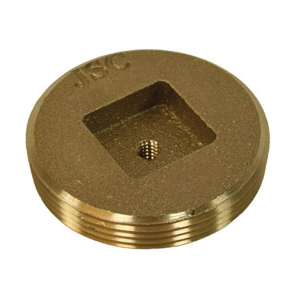 "5"" Brass Plug For Extension Cover 5-1/2"" OD"