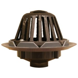 """2"""" PVC Roof Drain with Cast Iron Dome"""
