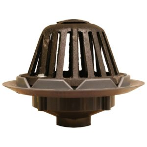 """3"""" PVC Roof Drain with Cast Iron Dome"""