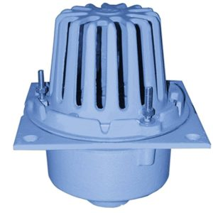 """3"""" Code Blue No-Hub Roof Drain with Square Pan"""