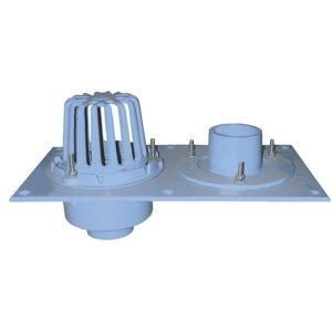 """2"""" No Hub Code Blue Dual Roof Drain with Single Dome"""