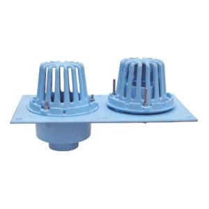 """3"""" No Hub Code Blue Dual Roof Drain with Double Dome"""