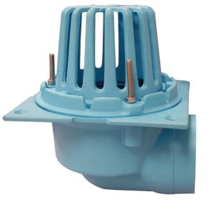 """4"""" Code Blue No-Hub Roof Drain with Side Outlet"""
