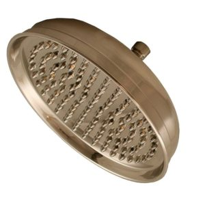 """Brushed Nickel 10"""" Round Shower Head with Metal Tips"""