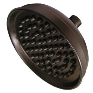 """Old World Bronze 10"""" Round Shower Head with Metal Tips"""