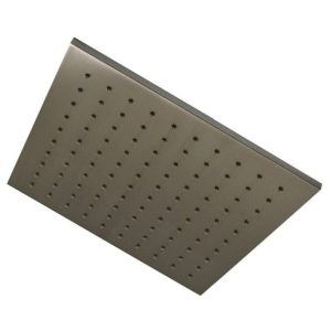"""Brushed Nickel 10"""" Square Shower Head with Rubber Tips"""