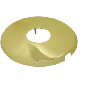 "Polished Brass 1/2"" Shower Arm Flange with Set Screw"