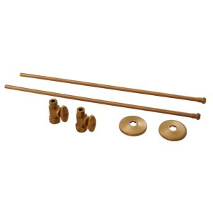 "Brushed Bronze 3/8"" x 20"" Lavatory Supply and 3/8"" x 5/8"" Straight Stop Kit"
