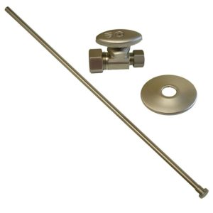 """Brushed Nickel 3/8"""" x 20"""" Closet Supply and 3/8"""" x 5/8"""" Angle Stop Kit"""