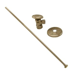 """Polished Stainless 3/8"""" x 20"""" Closet Supply and 3/8"""" x 5/8"""" Angle Stop Kit"""