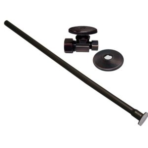 "Oil Rubbed Bronze 3/8"" x 20"" Closet Supply and 3/8"" x 5/8"" Angle Stop Kit"