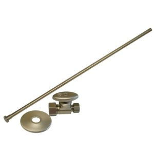 """Brushed Nickel 3/8"""" x 20"""" Closet Supply and 1/2"""" x 3/8"""" Angle Stop Kit"""
