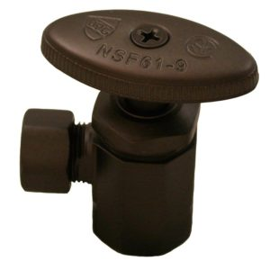 "Oil Rubbed Bronze Compression Angle Stop 1/2"" FIP x 3/8"" Comp."