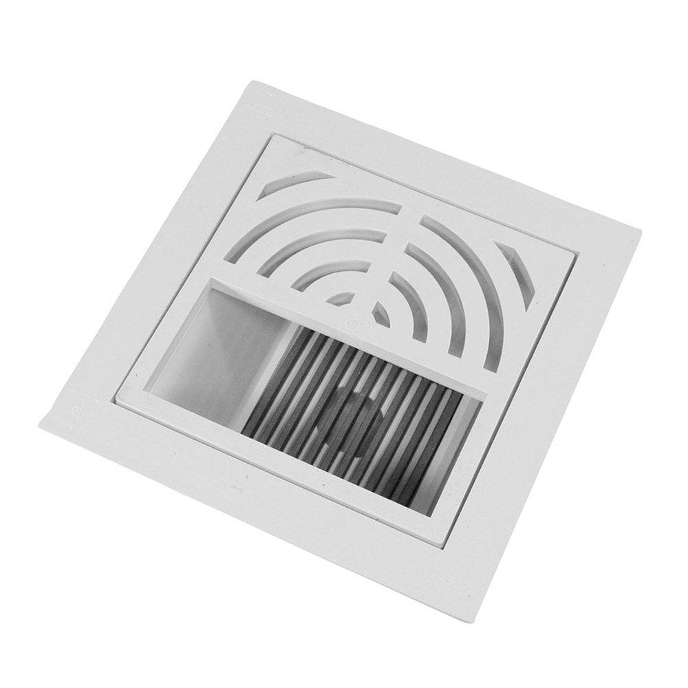 """2"""" PVC Pipe Fit Floor Sink with 1/2 Top Grate and Dome Bottom Grate"""