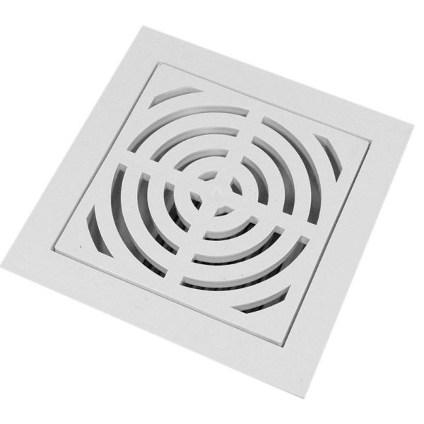 """4"""" PVC Pipe Fit Floor Sink with Full Top Grate and Dome Bottom Grate"""