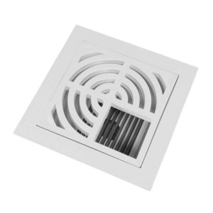 "3"" PVC Pipe Fit Floor Sink with 3/4 Top Grate and Flat Bottom Grate"
