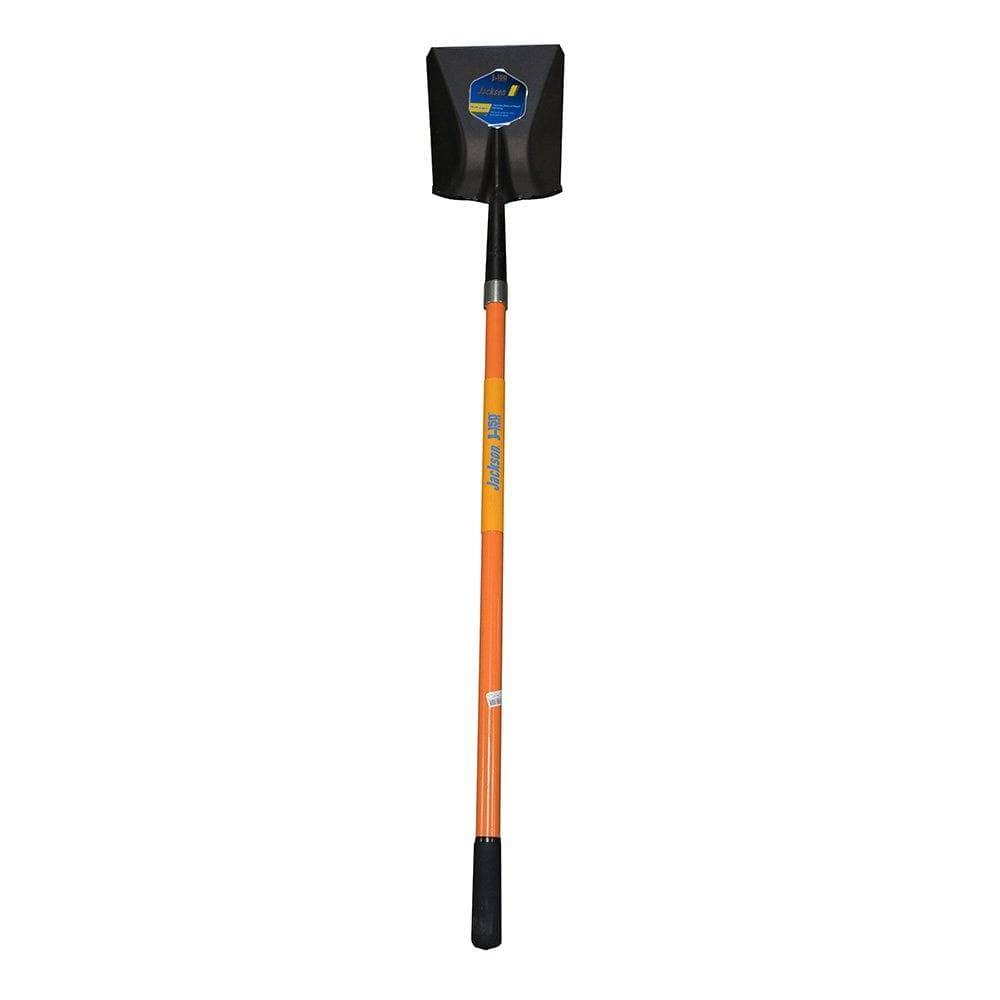 Fiberglass Handle Shovel, Long Handle, Square Point, AMES #SFGLS