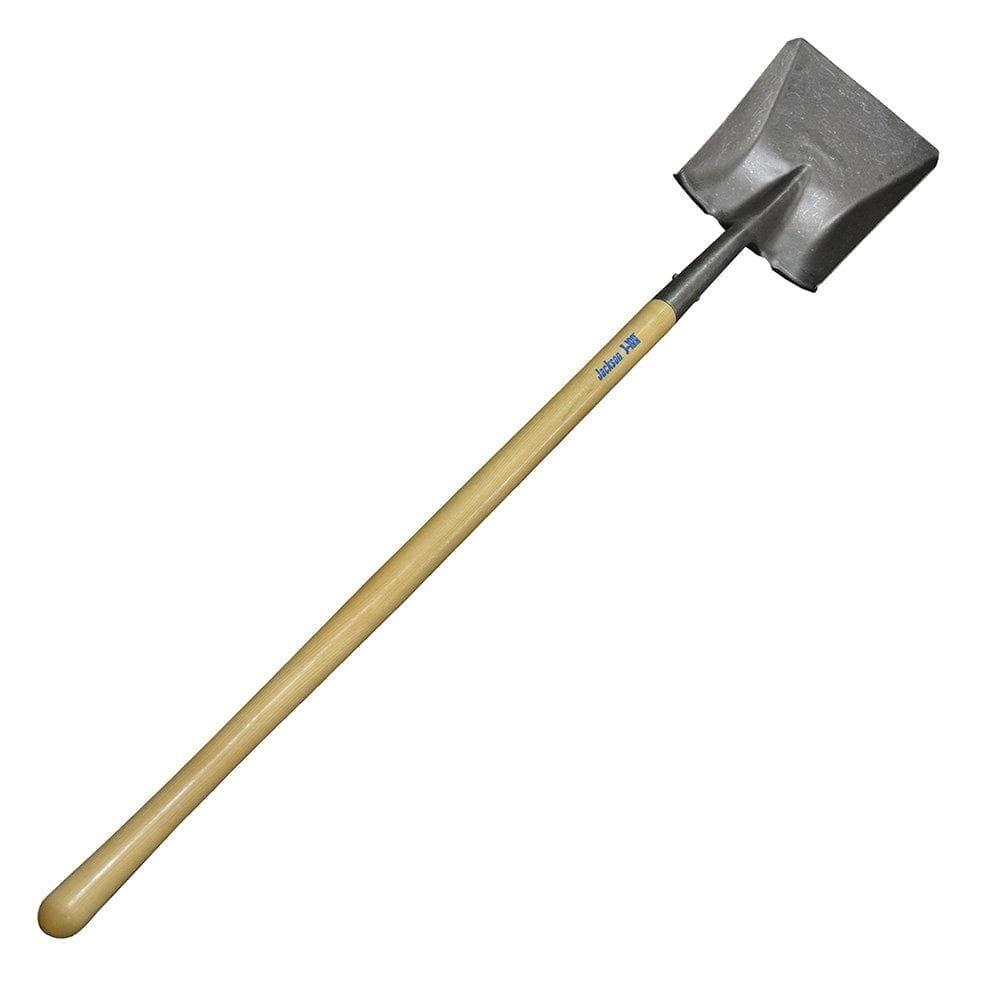 Premium Grade Wood Handle Shovel, Long Handle, Square Point, AMES #BMTLS