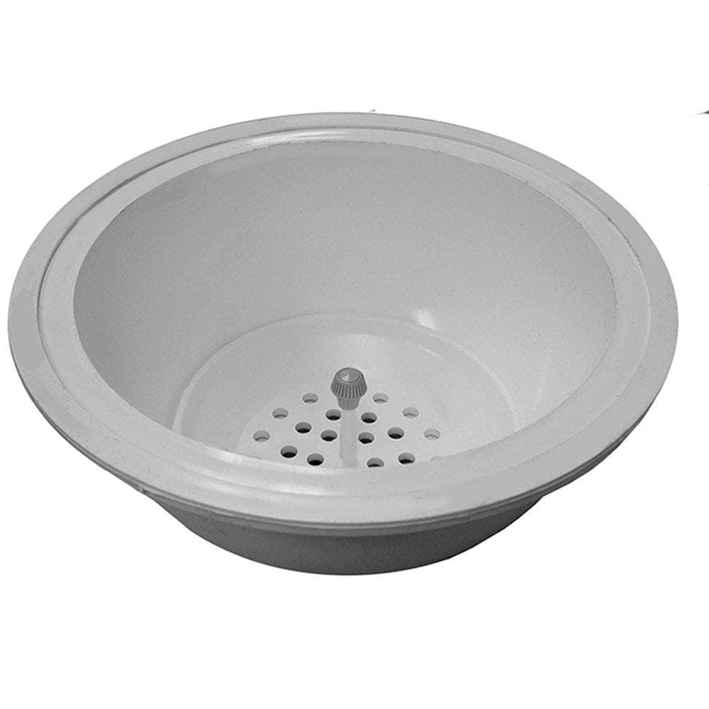 "3"" x 4"" PVC Round Slop Sink with Strainer"