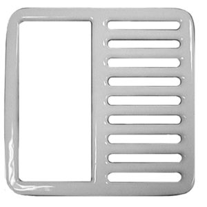 Half Top Grate for Porcelain Coated Floor Sinks