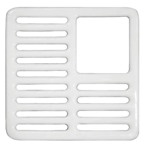 Three Quarter Top Grate for Porcelain Coated Floor Sinks
