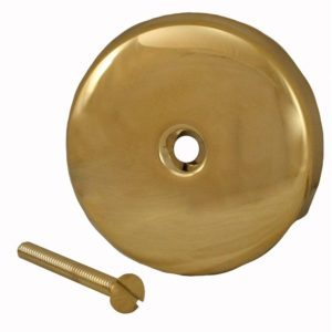 Polished Brass PVD One-Hole Overflow Plate with Screw