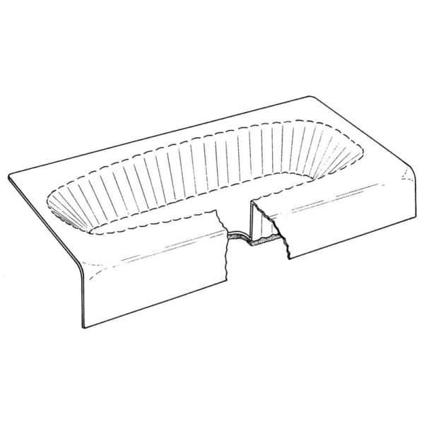 "14"" x 60"" x 30"" Bathtub Protector for Steel Tubs, Carton of 35"
