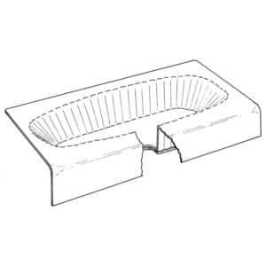 "16"" x 60"" x 42"" Bathtub Protector for Oval Tubs, Carton of 25"