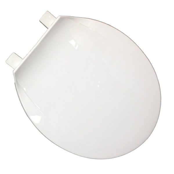 Utility Grade - Light Duty Plastic Seat, White, Round Closed Front with Cover