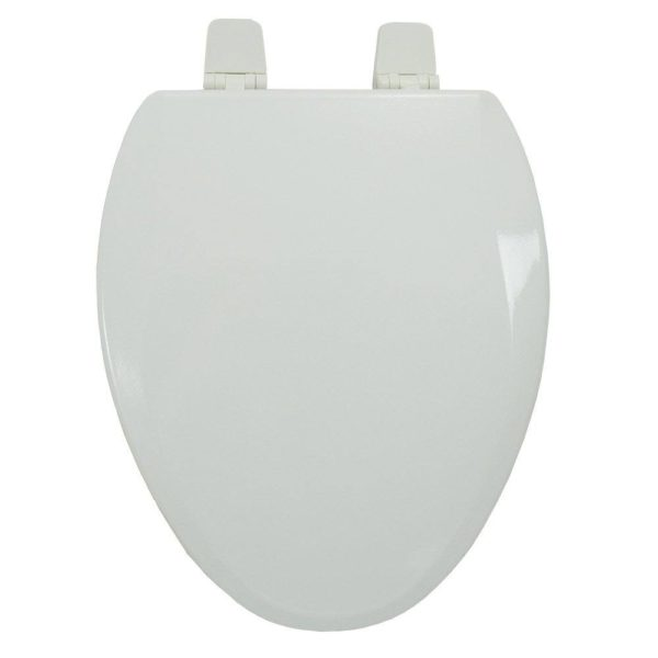 Premium Molded Wood Seat for Vortens Toilets, White, Elongated, Closed Front with Cover