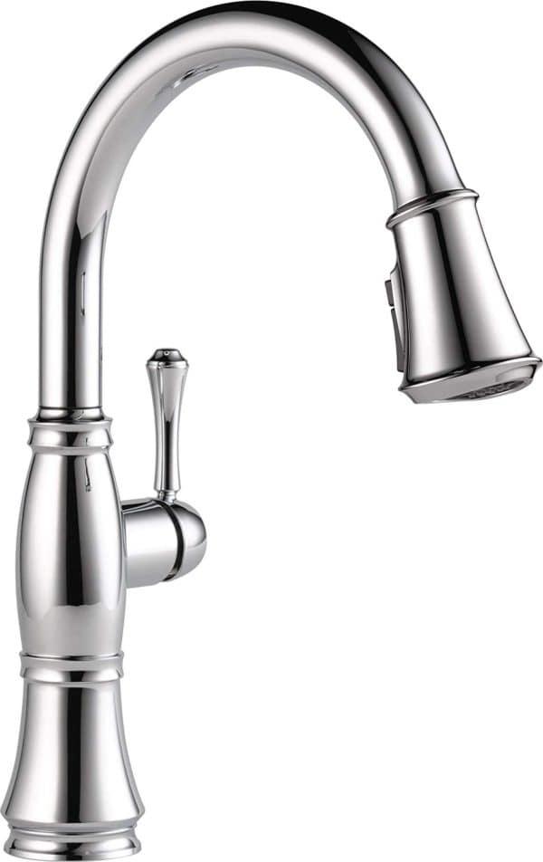Delta Faucet Cassidy Single-Handle Kitchen Sink Faucet 9197-DST