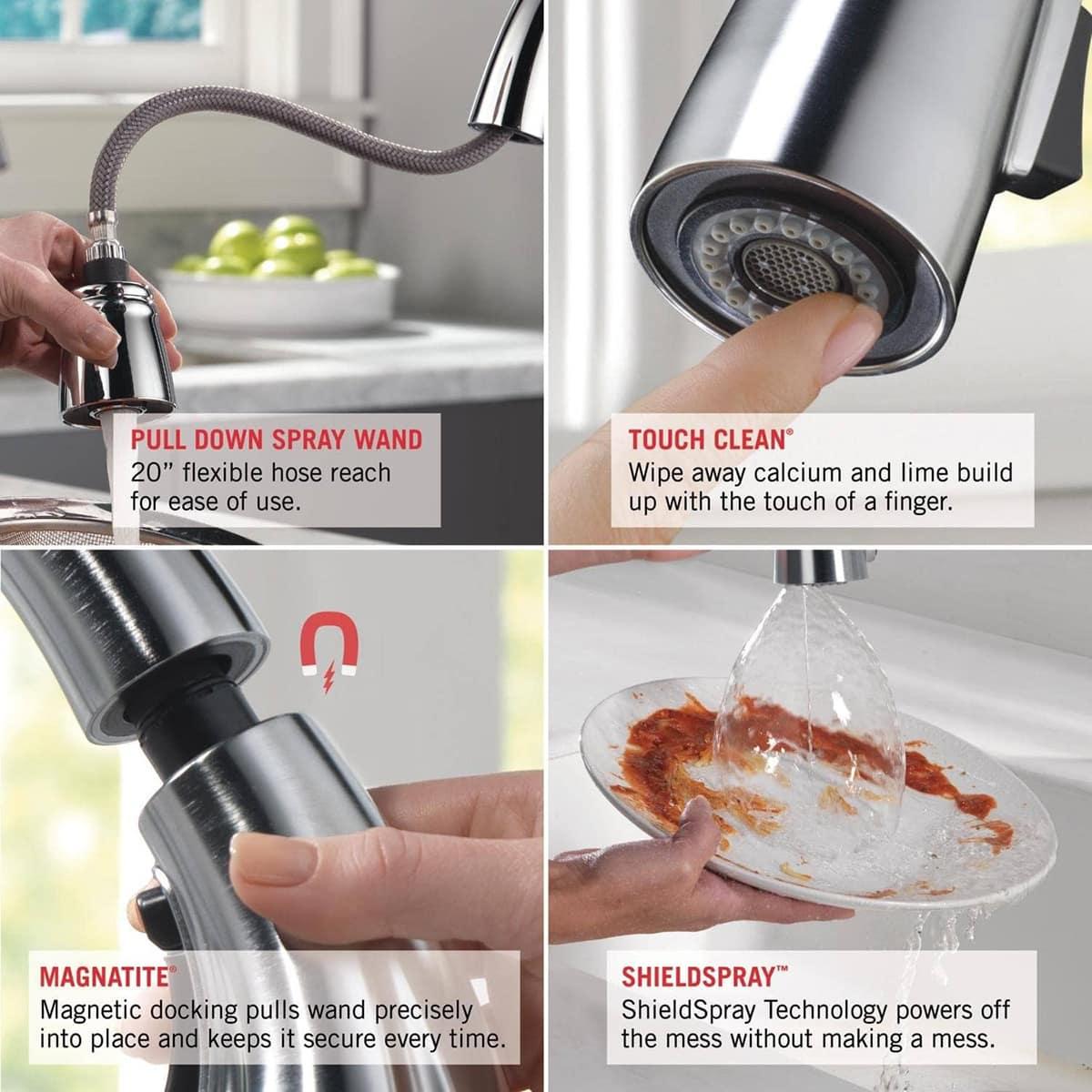 Delta Faucet Cassidy Single Handle Kitchen Sink Faucet 9197 Dst