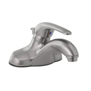 Brushed Nickel Single Handle Bathroom Faucet with Pop-Up