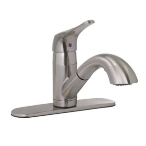 Stainless Steel Pull-Out Kitchen Faucet
