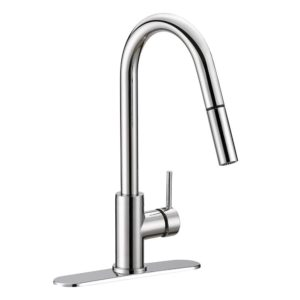Chrome Plated Hi-Arc Pull-Down Kitchen Faucet