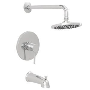 Chrome Plated Tub/Shower Faucet with Rain Shower Head, Trim Only